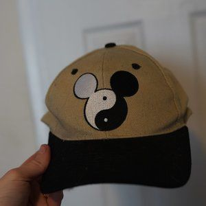 Vintage 90s Disney Ying Yang Mickey Mouse Hat